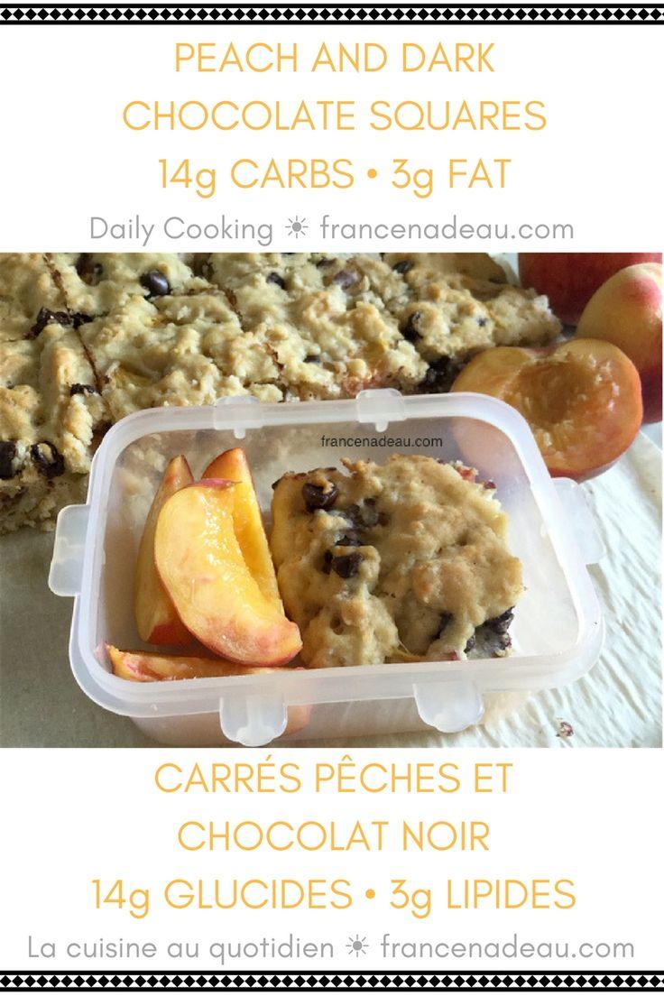 Peach and Dark Chocolate Squares (Daily Cooking) - francenadeau.com