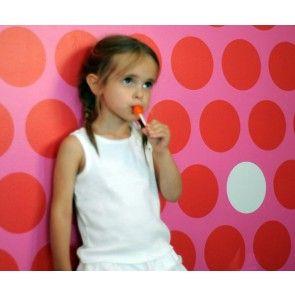 Pop & Lolli - Dottiliscious Wall Paper - Fuschia Bubble