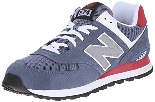 New Balance Men's ML574 Core Plus Running Shoe, Blue/Red, 16 2E US - http://all-shoes-online.com/new-balance/16-2e-us-new-balance-mens-ml574-core-plus-sneaker