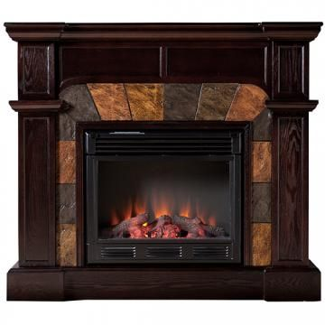 CORNER FIREPLACES: RUSTIC CORNER ELECTRIC FIREPLACES
