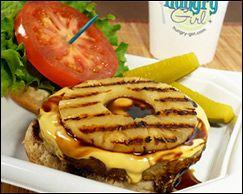 Hungry Girl's recipe for Red Robin's Banzai burger.... yummmmmmmmm!