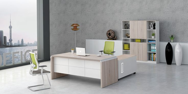 L مكتب شكل مع حجم مناسب والعديد من الأماكن لتخزين الملفات الخاصة بك