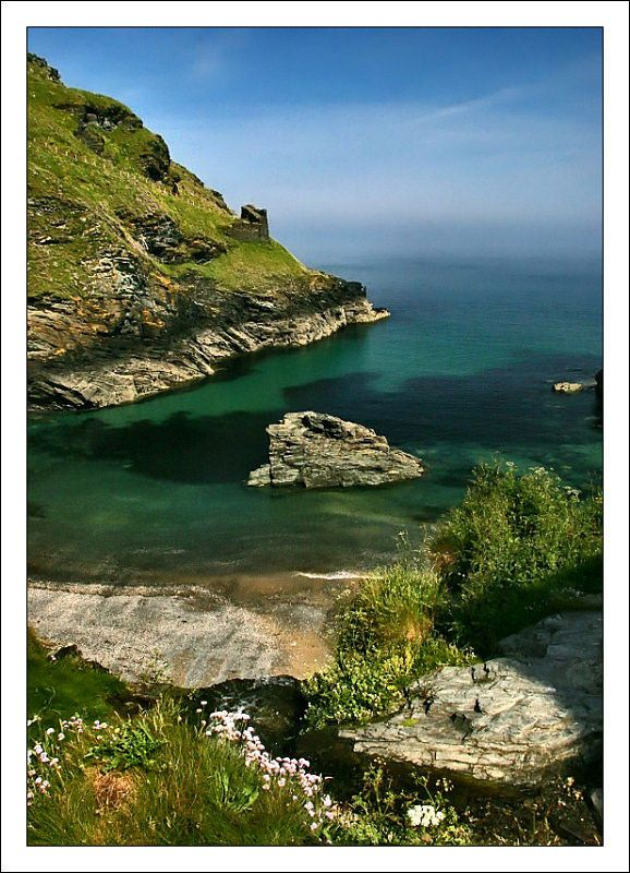 Tintagel Cove, Tintagel, Cornwall, England Copyright: John Cherrington