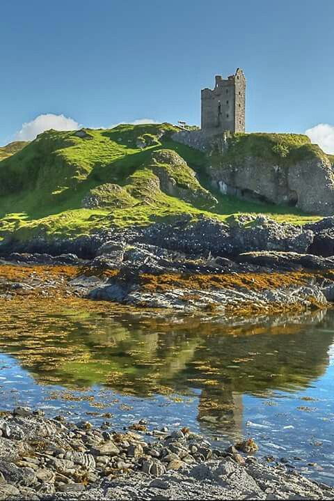 Gylen Castle, on the southern part of the island of Kerrera in Argyll and Bute, juts dramatically into the sky on the tip of a promontory overlooking the Firth of Lorne.