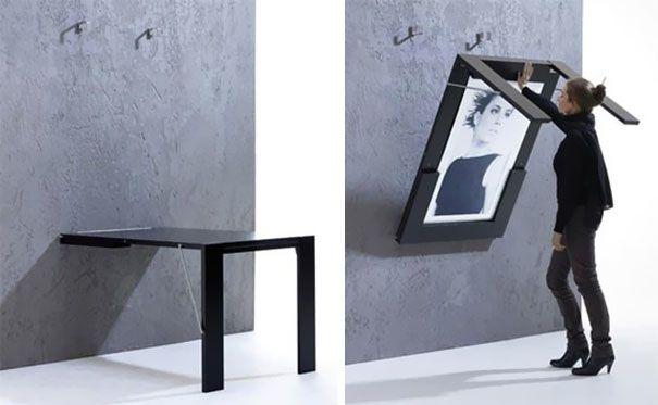 Il tavolo che diventa un quadro #design #home #ideas