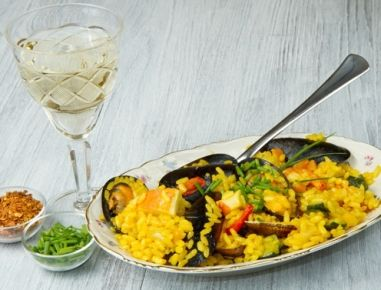 Spanische+Reispfanne+aus+dem+Dampfgarer