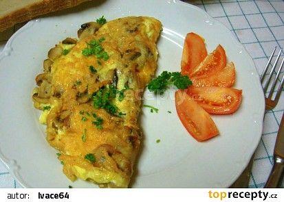 Rychlá vaječná omeleta se žampiony recept - TopRecepty.cz