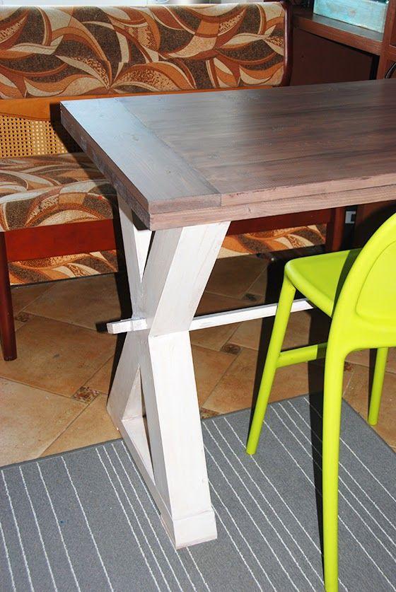 DIY: Обеденный стол с Х-образными ножками своими руками. часть 2