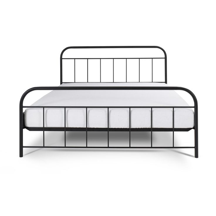 AVOS Metallbett Bett Schwarz 180x200 Cm Metal Bed Black