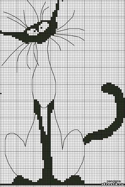 Embroidery Scheme, Cat,