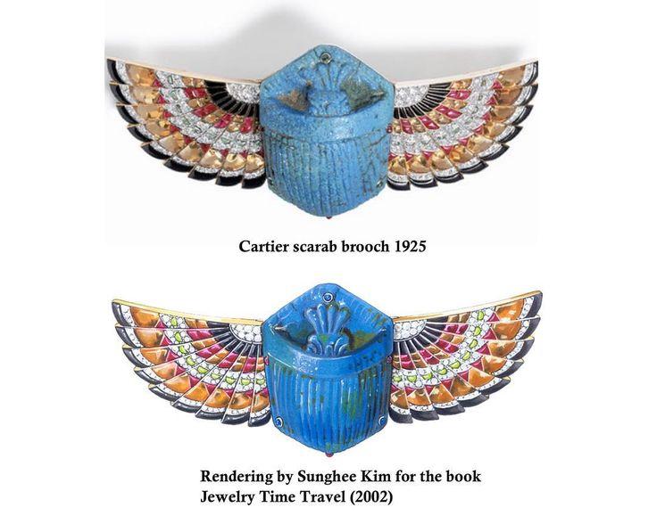 "Sunghee Kim on Instagram: ""Cartier scarabeo brooch. Art Deco. Rendering by Sunghee Kim for the book "" Jewelry Time Travel"" 2002. #jewelry #jewelrydesigner #sungheekim…"""