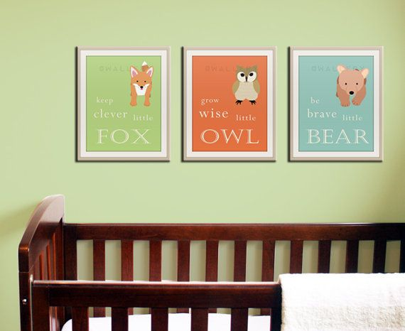 Baby nursery art prints Inspiration typography prints by Wallfry, $48.00