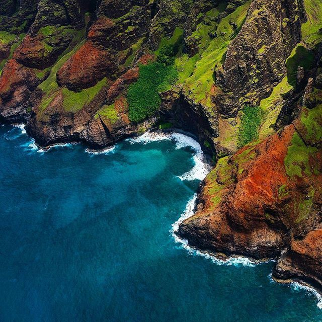Na Pali Coast State Park is located in Kauai, HI. It is a beautiful place with rugged cliffs, waterfalls, streams, narrow valleys and more. . . The park is 6,175 acres in size and runs 16 miles along the coast of Kauai. It was formed to protect the Kalala