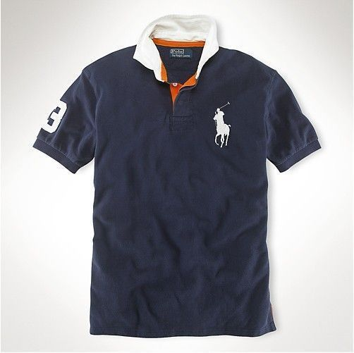 Polo Ralph Lauren Men Stickup Custom-Fit Mesh Darkblue Red