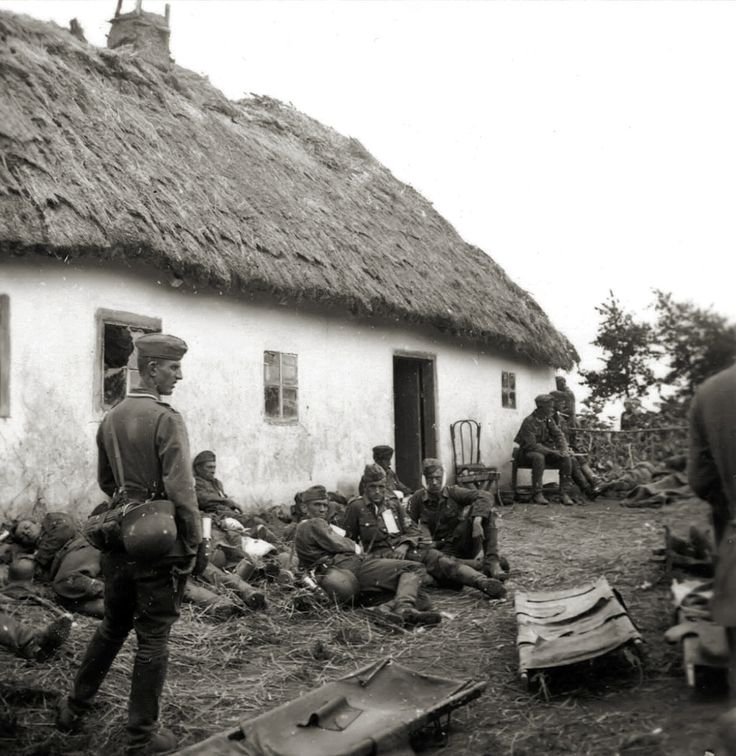 Wounded Soldiers In A Russian Village True Wehrmacht S