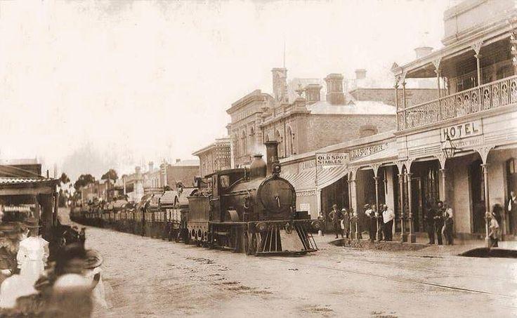 Murray Street Gawler South Australia. Great old photo.