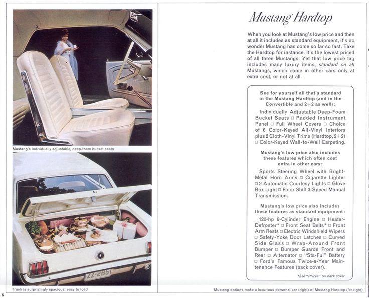 19 best 1965 Mustang RestoMod images on Pinterest 1965 mustang - sales brochure
