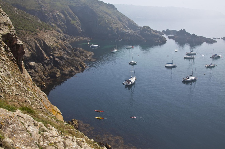 A kayaking adventure! A different way to explore Guernsey's coastline.
