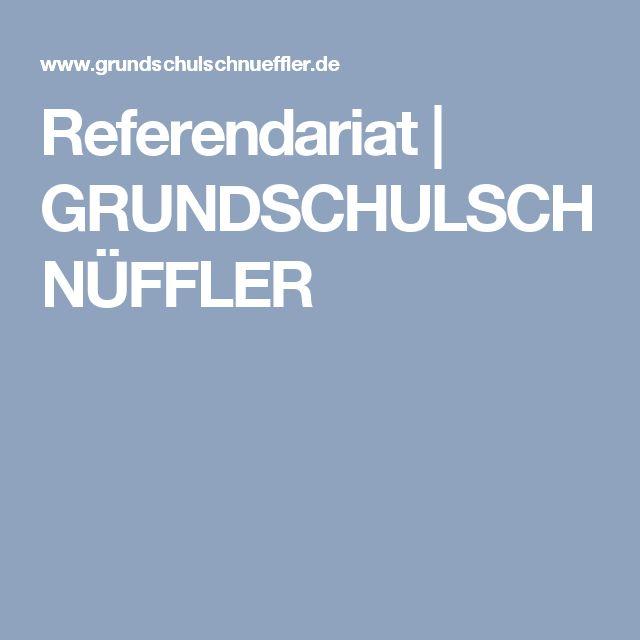 Referendariat | GRUNDSCHULSCHNÜFFLER