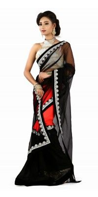 208342238_melodic_black___red_embroidered_saree.jpg (200×400)