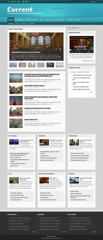 Current, Drupal Technology News Portal Theme