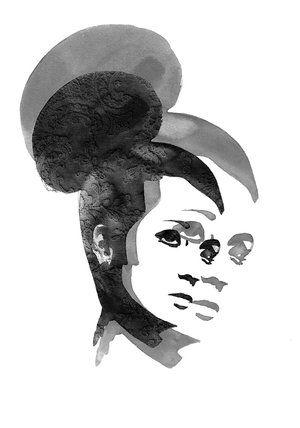 Sofie Rolfsdotter - Delusional black, 30x40 cm