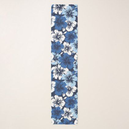 Epic Hibiscus Hawaiian Floral Aloha Shirt Print Scarf - floral gifts flower flowers gift ideas