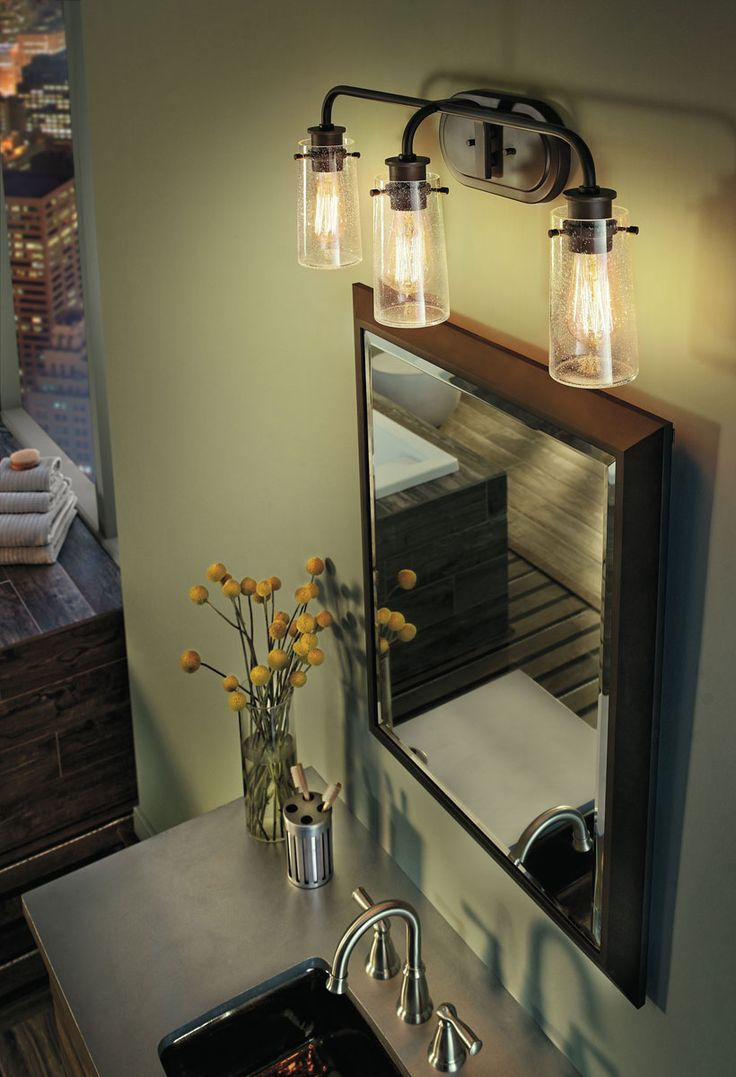 Blue Bathroom Wall Sconces : 17 Best ideas about Light Green Bathrooms on Pinterest Bathroom colors blue, Guest bathroom ...