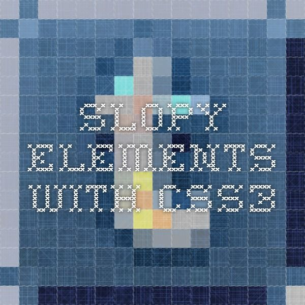 Slopy Elements with CSS3
