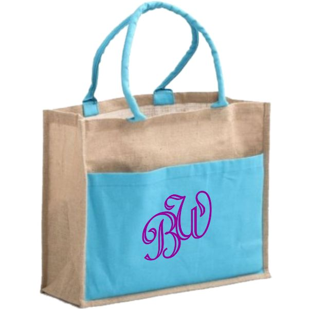 Personalized Bridal Tote Bags with monogram