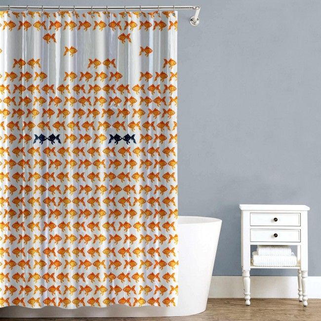 A new shower curtain is a simple and inexpensive way to freshen up your bathroom decor.