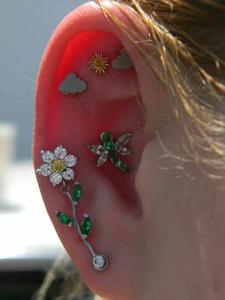 89 best Ear piercings images on Pinterest | Piercing ... |Unique Body Piercings For Women