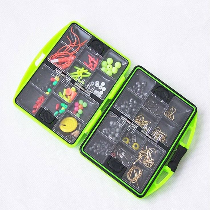 [Visit to Buy] 2016 24 kinds Multifunctional fishing tackle box with hooks Rock Accessories Box Surf Casting Swivel Jig Hooks fishing tools set #Advertisement