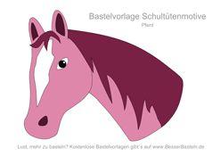 Applikation Pferdekopf - auch gut für Schultüten