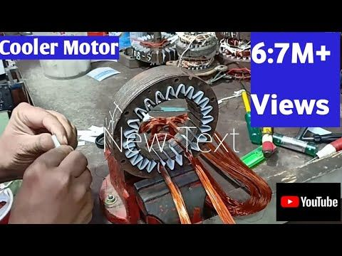 Cooler Motor Winding Coil Turn Data Full Winding With Connection In Hindi Youtube In 2020 Electrical Wiring Colours Motor Coil
