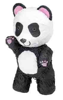 """This panda pinata is perfect for any party. 8"""" x 9 1/2"""" x 17"""" This Pinata is the traditional style, so get out your Pinata bat and blindfold and get to the sweets (sold separately) Please Note: Pinata"""