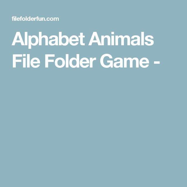 Alphabet Animals File Folder Game -