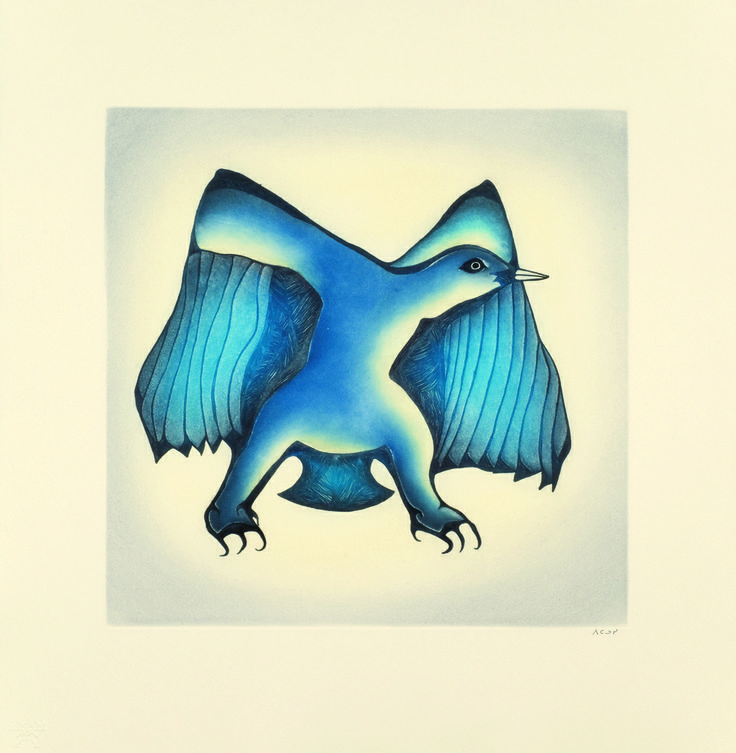 Cape Dorset Prints   This one is called Full Moon by Pitaloosie Saila   http://inuitarteskimoart.com/images/P12CD21L.jpg