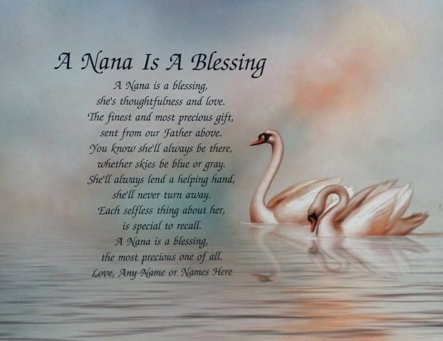 PERSONALIZED NANA POEM A SPECIAL GIFT FOR GRANDMOTHER in Specialty Services, Printing & Personalization, Other Printing Services | eBay