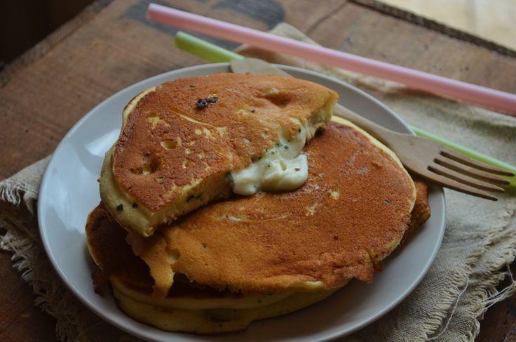 Pancakes fourrés à la mozzarella