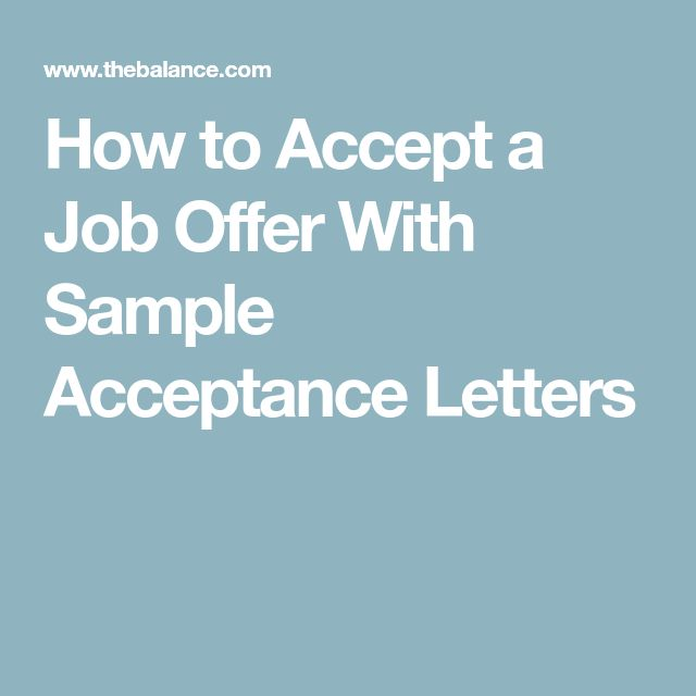 How to Accept a Job Offer With Sample Acceptance Letters