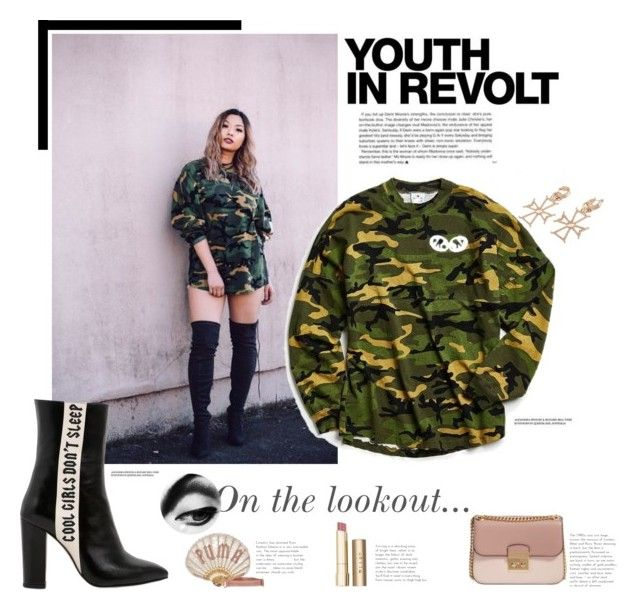 """Youth in Camo"" by spirit-jersey ❤ liked on Polyvore featuring Puma, Havva, Stila, MICHAEL Michael Kors and Hedi Slimane"