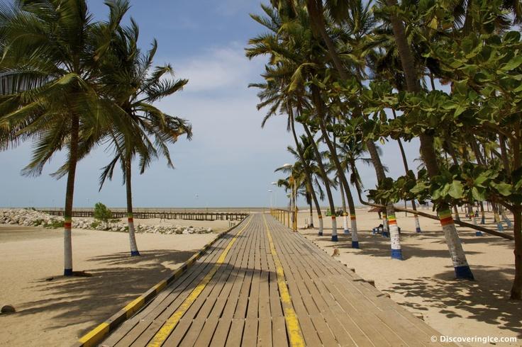 Beach Boardwalk in Riohacha, La Guajira, Colombia