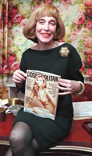 Helen Gurley Brown, Cosmopolitan Editor, Dies at 90 - NYTimes.com    Thanks for being part of paving the way for women! May you RIP