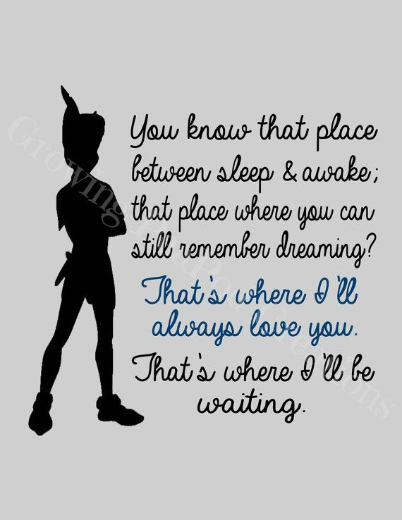 Peter Pan Quote on Etsy, $19.62