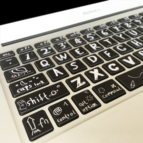 MacBook Keyboard Decal Sticker Mac Air Pro DIY Keyboard Skin | Etsy