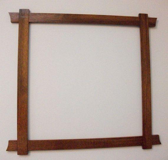 Large Picture Mirror Frame Arts Crafts Mission Craftsman