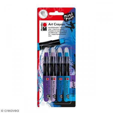Crayon cire aquarelle - Art Crayon - Bleu ocean - 4 pcs http://www.creavea.com/crayon-cire-aquarelle-art-crayon-bleu-ocean-4-pcs_boutique-acheter-loisirs-creatifs_67174.html