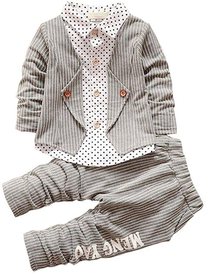 BibiCola Baby Boy Clothes Toddler Fall Sweatsuit Long ...