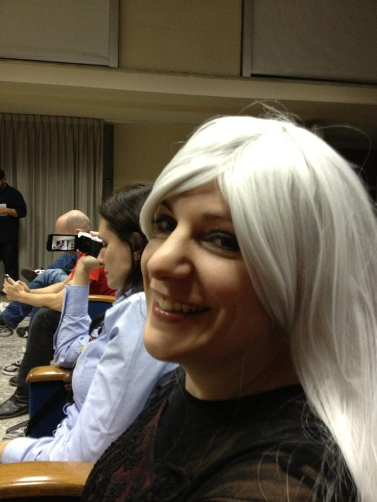 Vampire smile - after the pitch for Carmilla at the Naples AppCircus